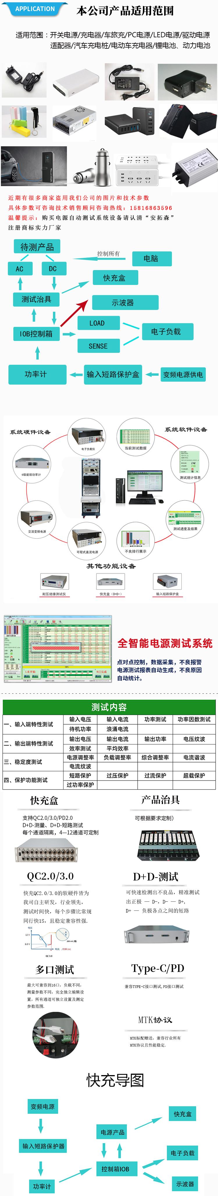 开关电源测试系统细节展示